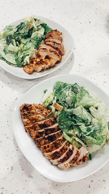 Easy Chicken Caesar Salads